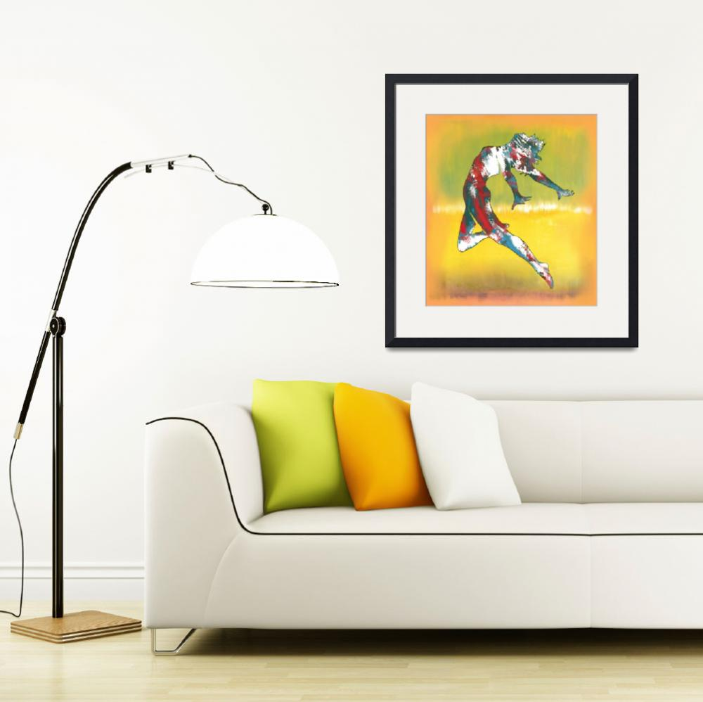 """""""Pop art dancing nude drawing sketch&quot  (2013) by visualharbour"""