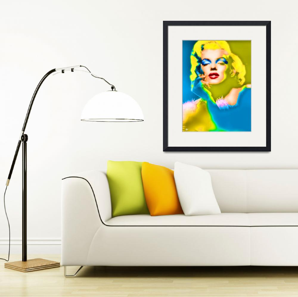 """Marilyn Monroe Pop&quot  (2015) by RubinoFineArt"