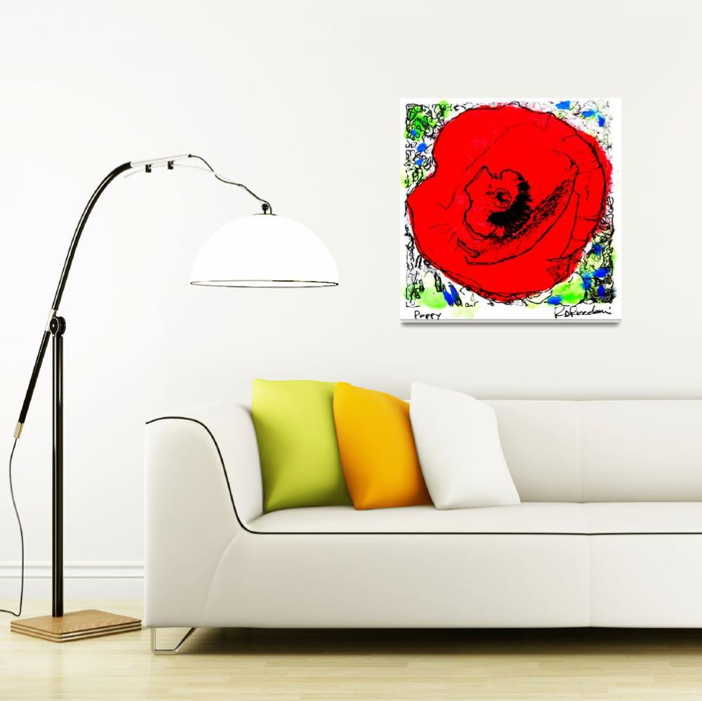 """Red Poppy Flower""  (2006) by RDRiccoboni"
