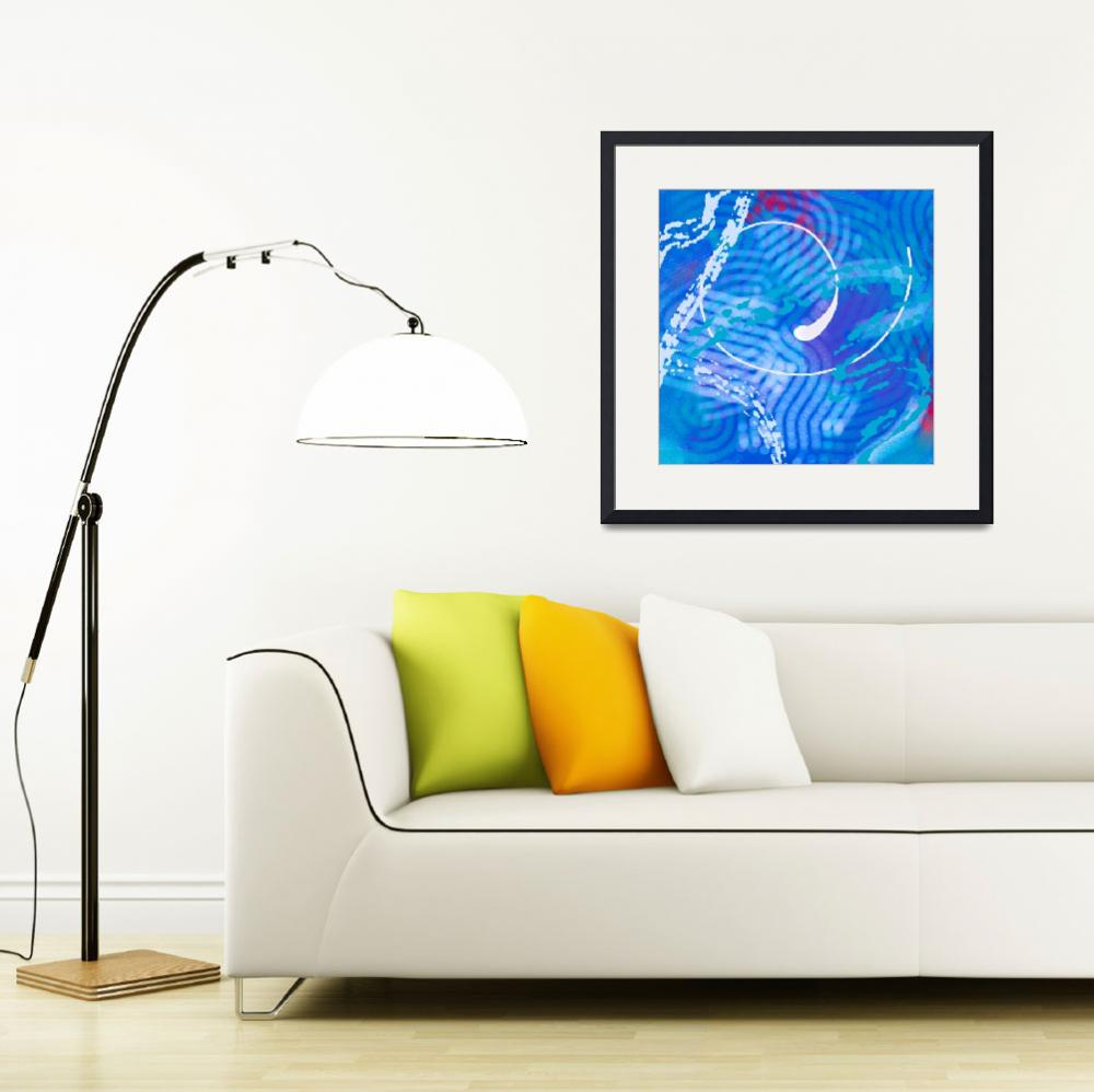 """""""Blue Abstract&quot  (2013) by TolliverArts"""