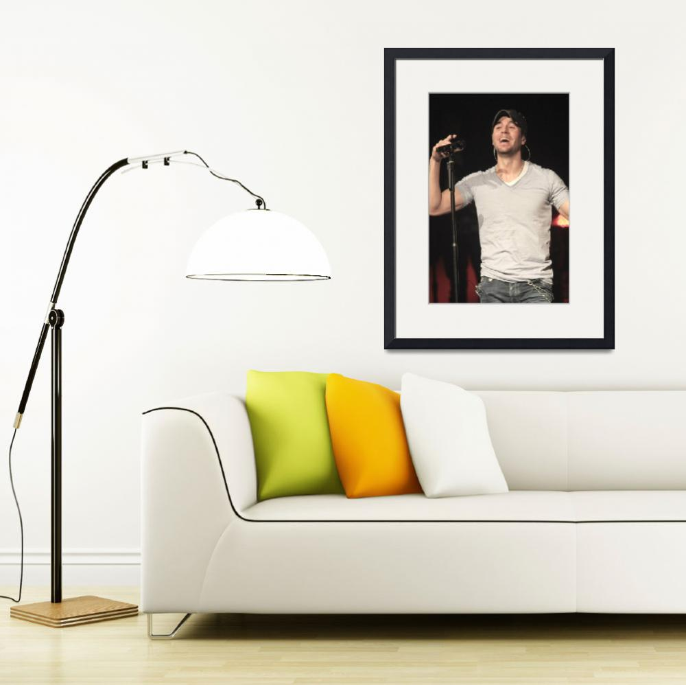 """Singer Enrique Iglesias&quot  by FrontRowPhotographs"