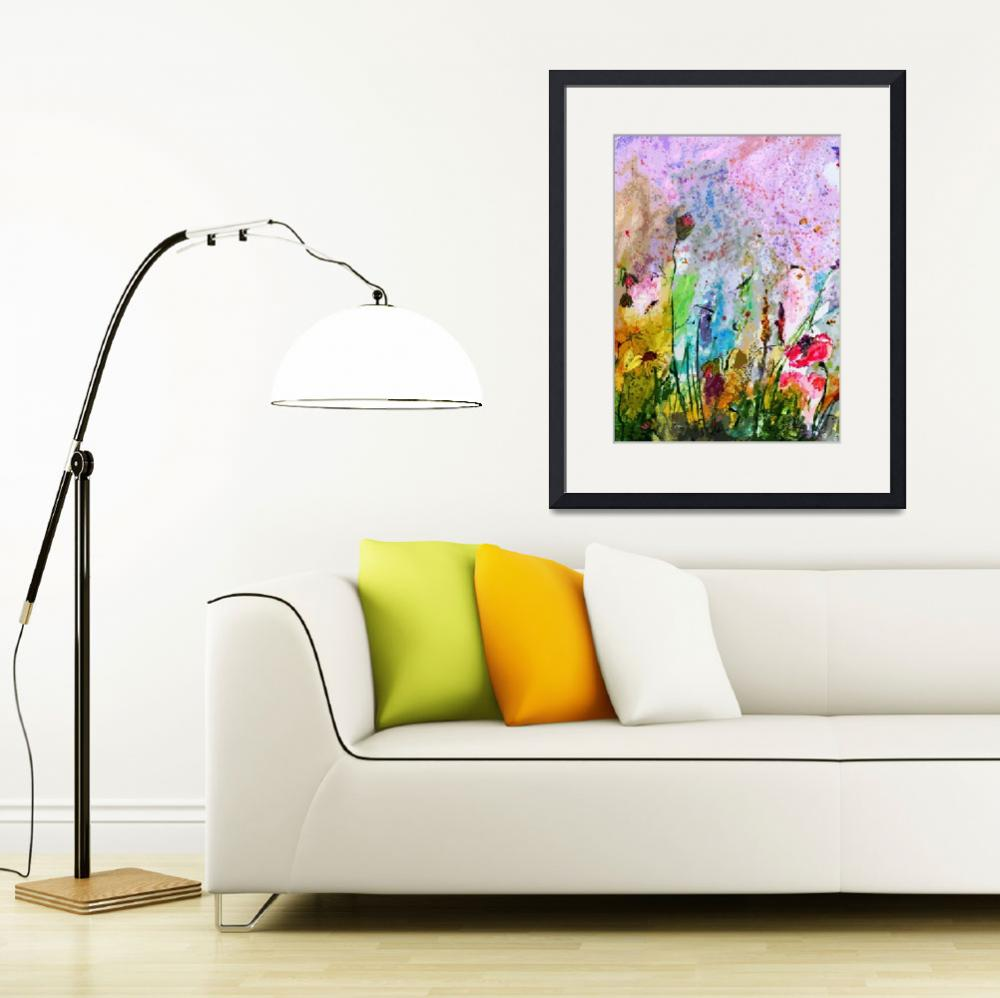 """""""Wildflowers and Poppies Provence Modern Art""""  (2013) by GinetteCallaway"""