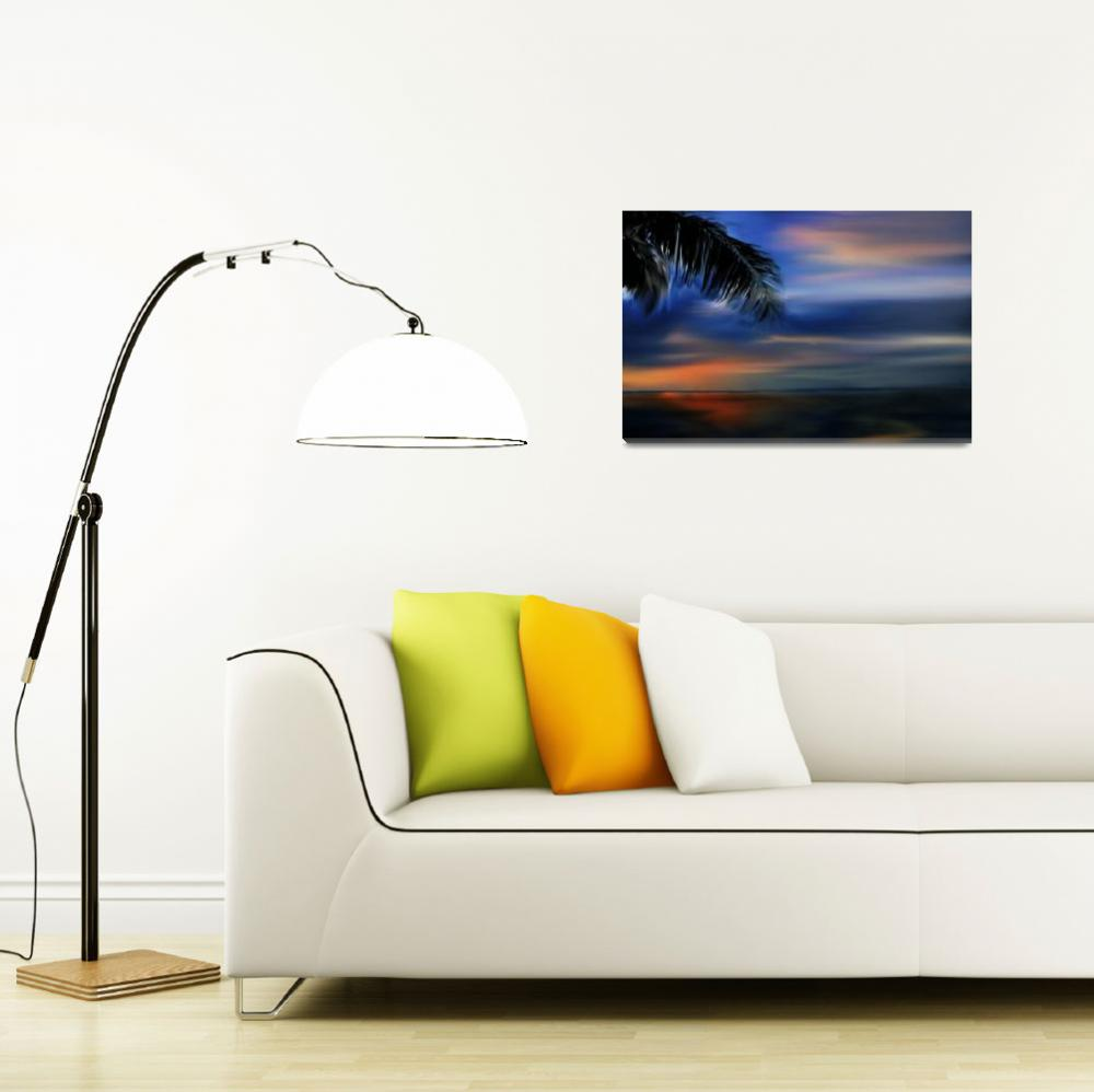 """""""Tropical Sunset (large)&quot  (2008) by milannadesign"""