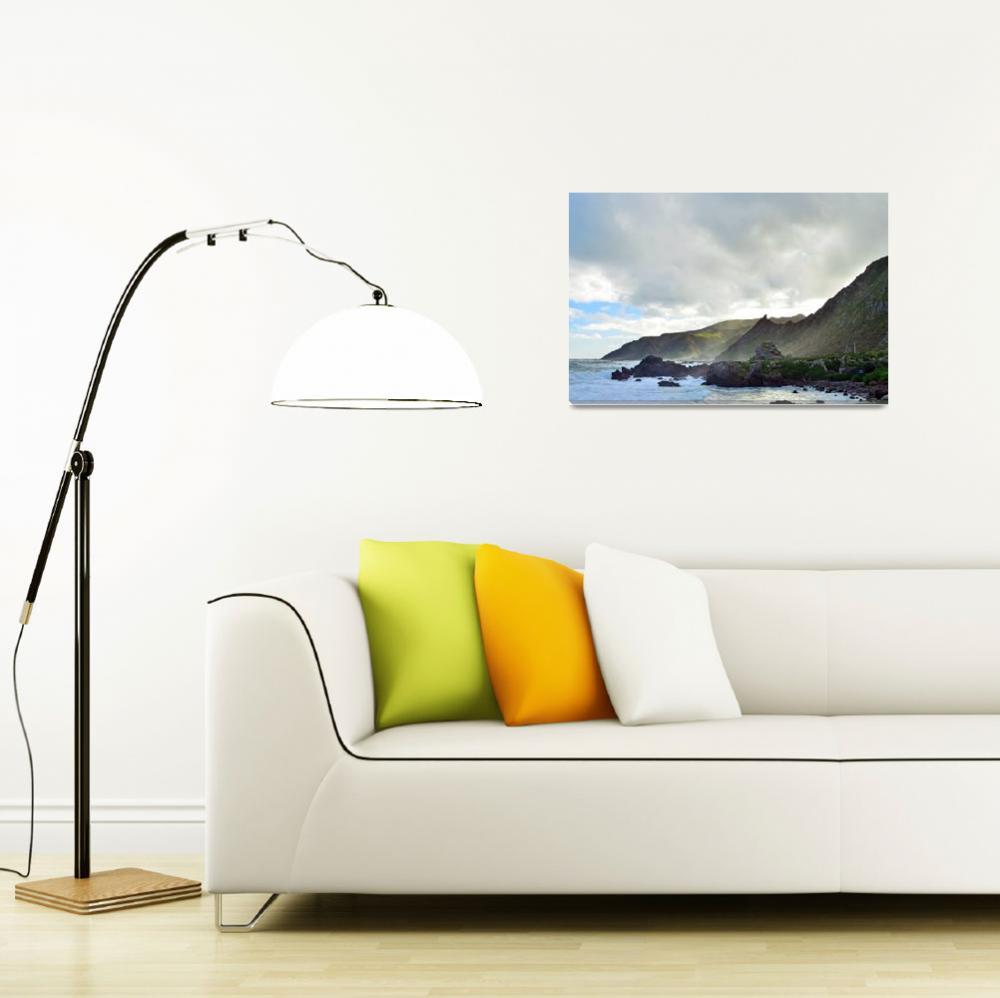 """""""Cape Palliser Coast, New Zealand&quot  by bretthammphotography"""