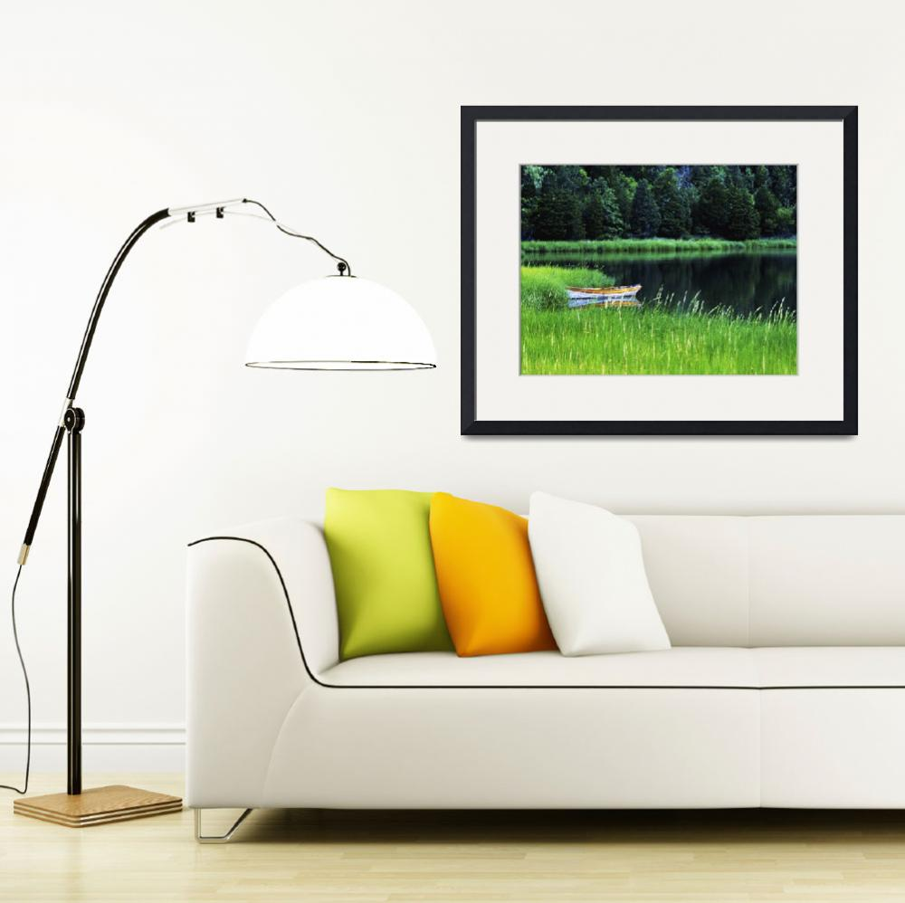 """""""Rowboat on Mill Pond, Orleans, Cape Cod&quot  (2007) by CapeLight"""