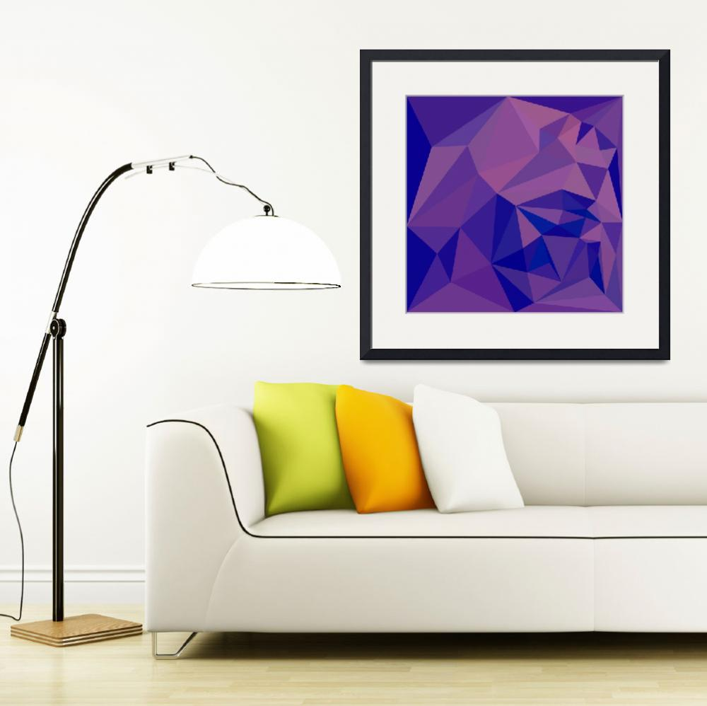 """""""Han Purple Abstract Low Polygon Background&quot  (2015) by patrimonio"""