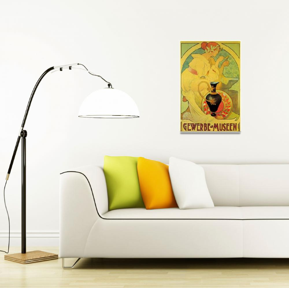 """Gewerbe Musenn Vintage Poster&quot  by Johnny-Bismark"