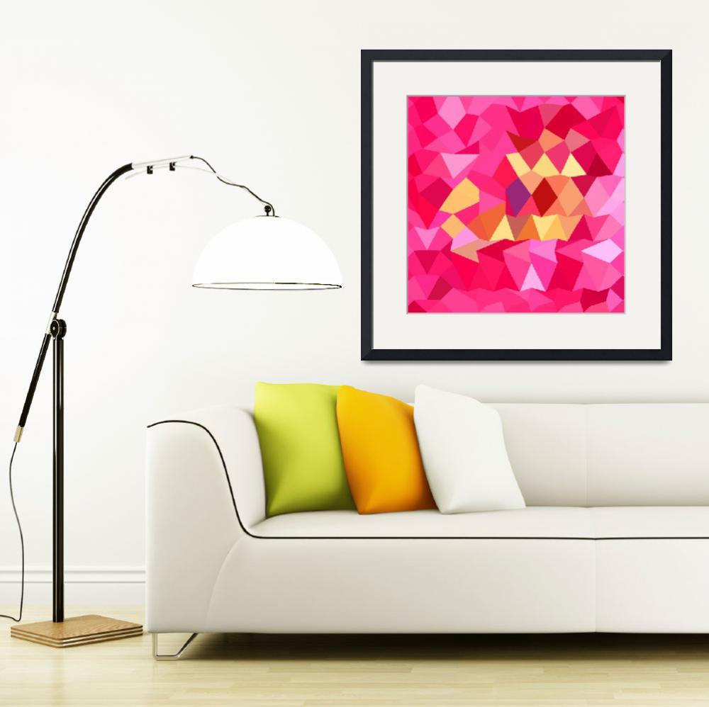 """""""Brink Pink Abstract Low Polygon Background&quot  (2015) by patrimonio"""