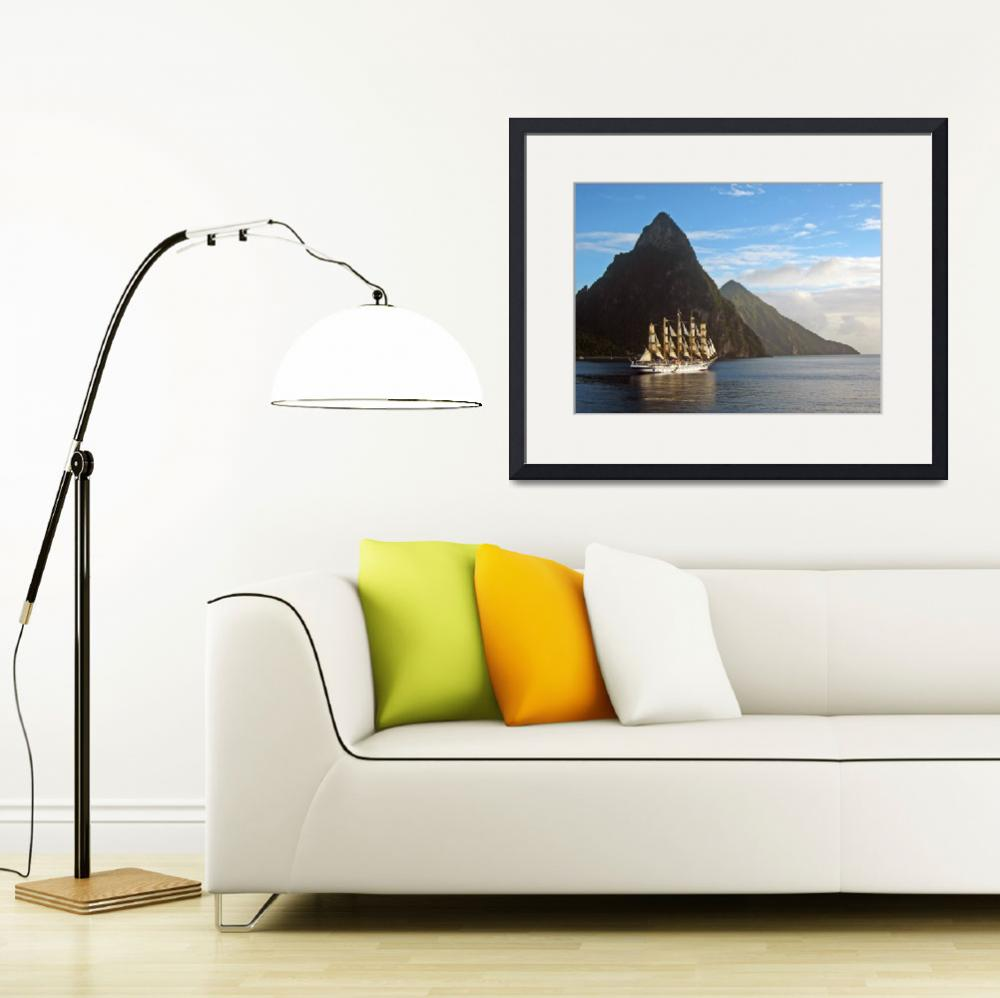 """Sailing St. Lucia&quot  (2013) by robertalexanderimages"