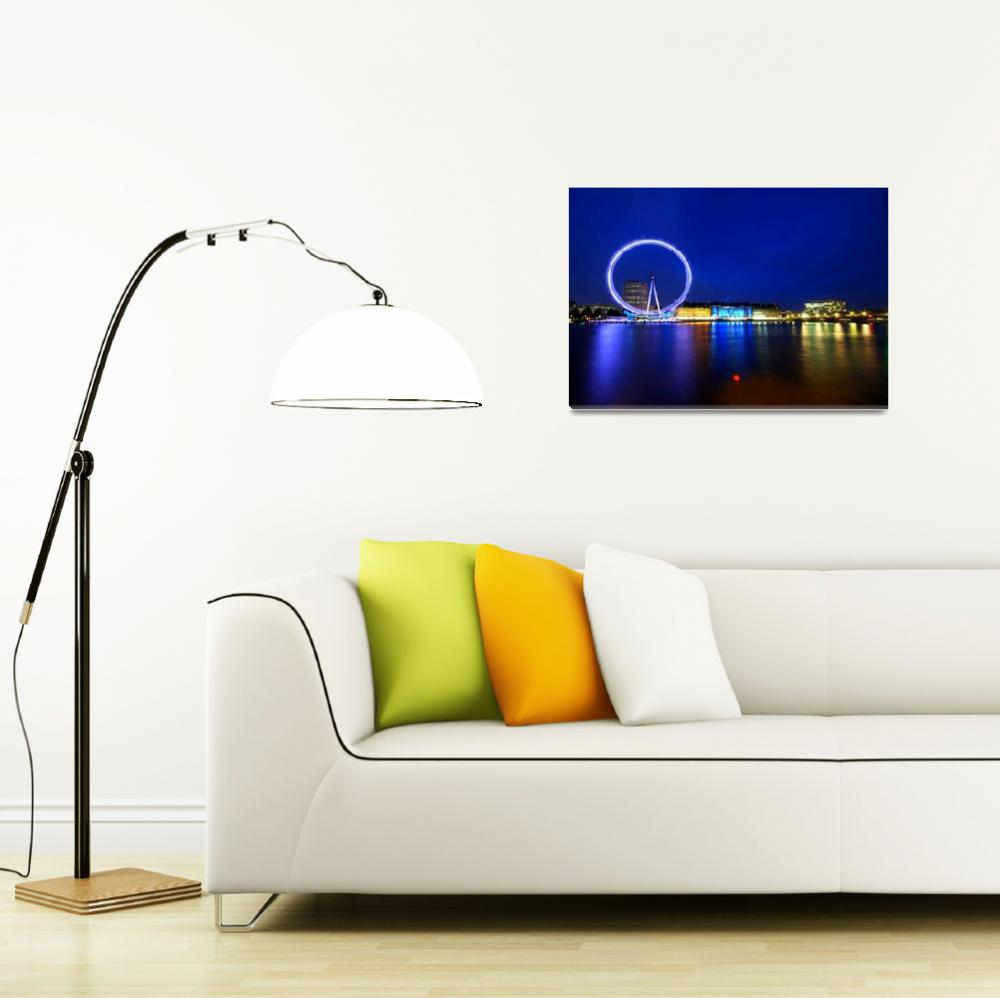 """London Eye at Night&quot  (2009) by sergioamiti"