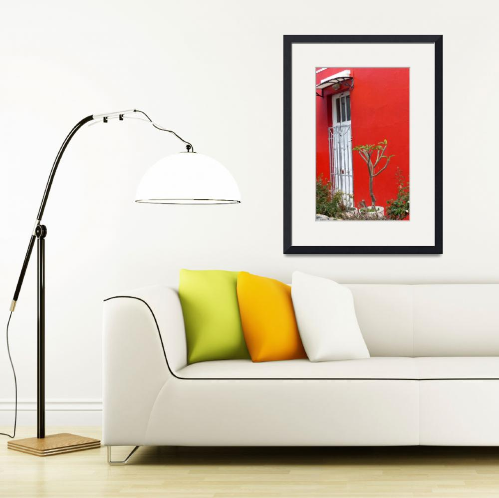 """""""The Red House, Cape Town&quot  (2016) by Bailleul"""