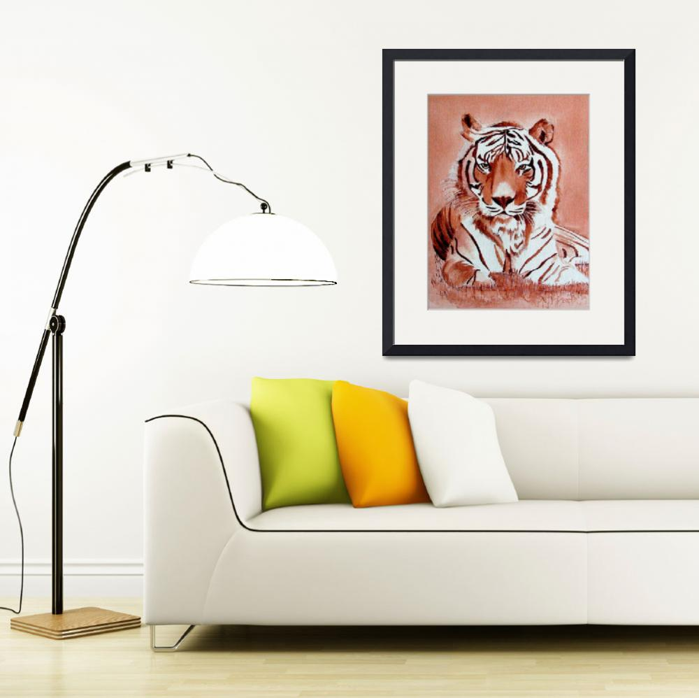 """""""Bengal Tiger&quot  (2010) by Spangles44"""