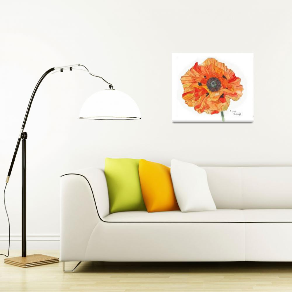 """Single Orange Poppy""  (2012) by esvb"