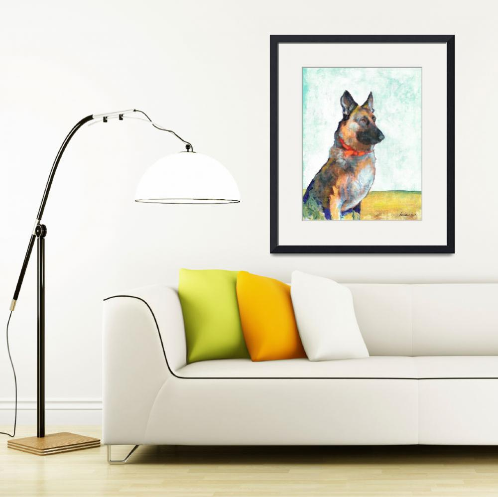 """German Shepherd Portrait by Riccoboni&quot  (2010) by RDRiccoboni"