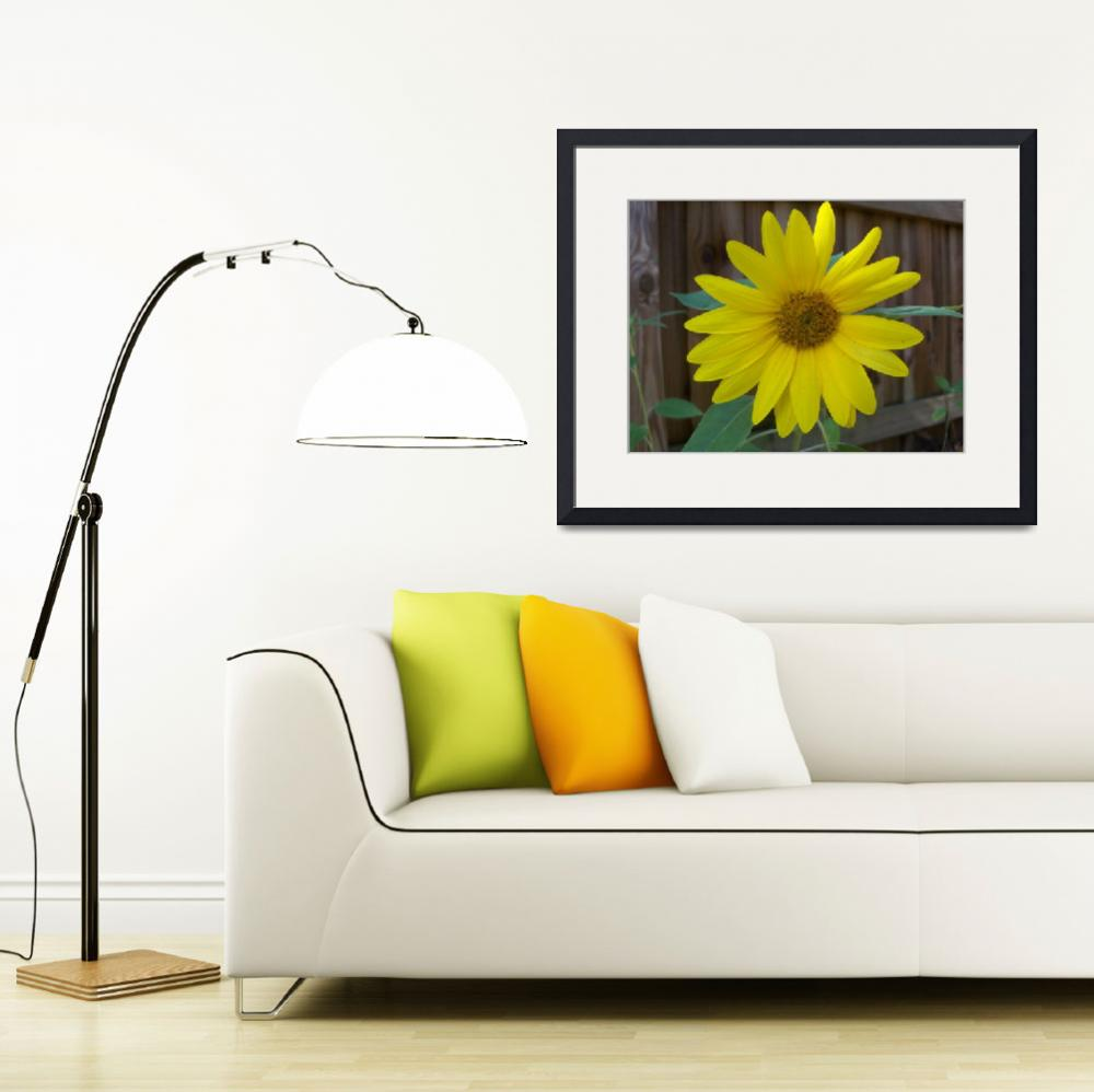 """Happy yellow sunflower&quot  (2018) by NormaStampSunnyDaze"