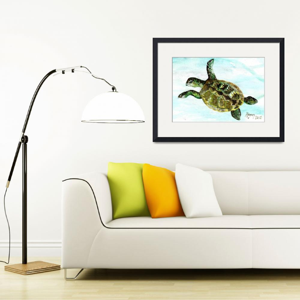 """""""TurtleTime-2015&quot  (2015) by RaganBonciArt"""