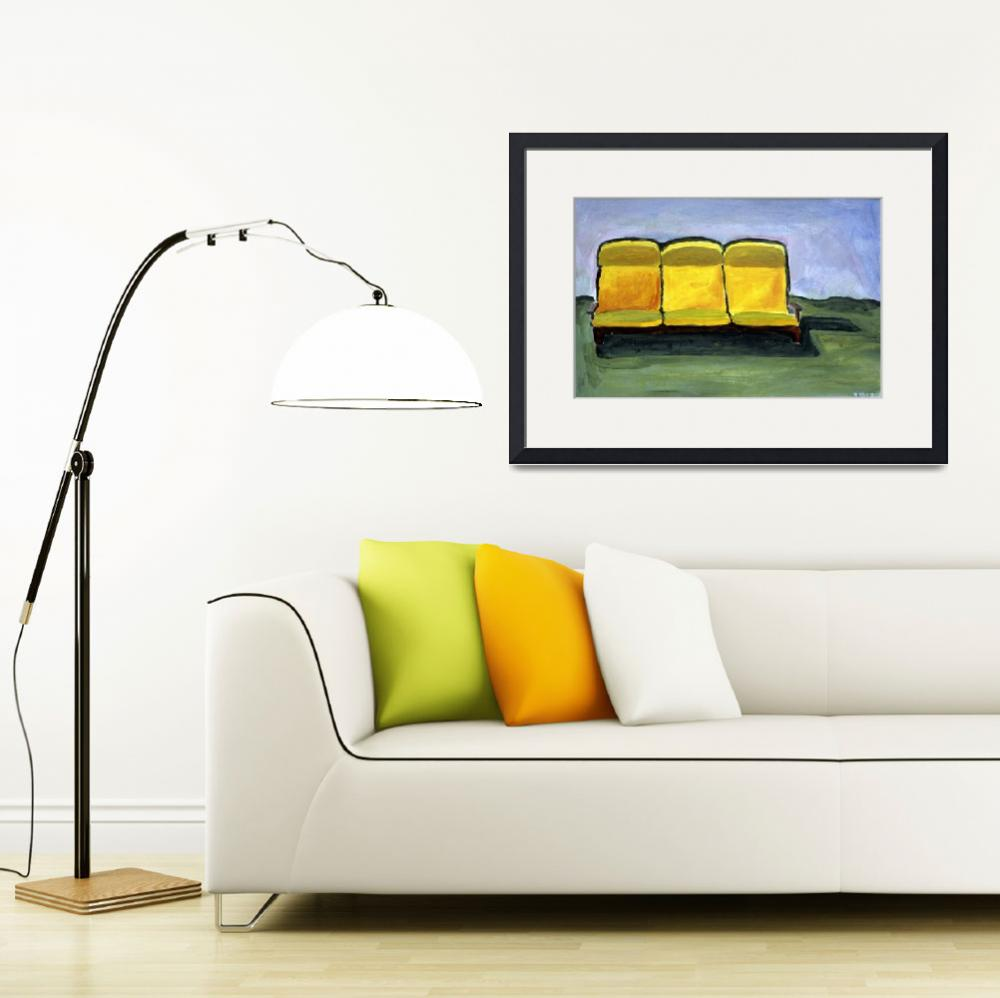"""""""The Yellow Couch&quot  (2007) by Rudy"""