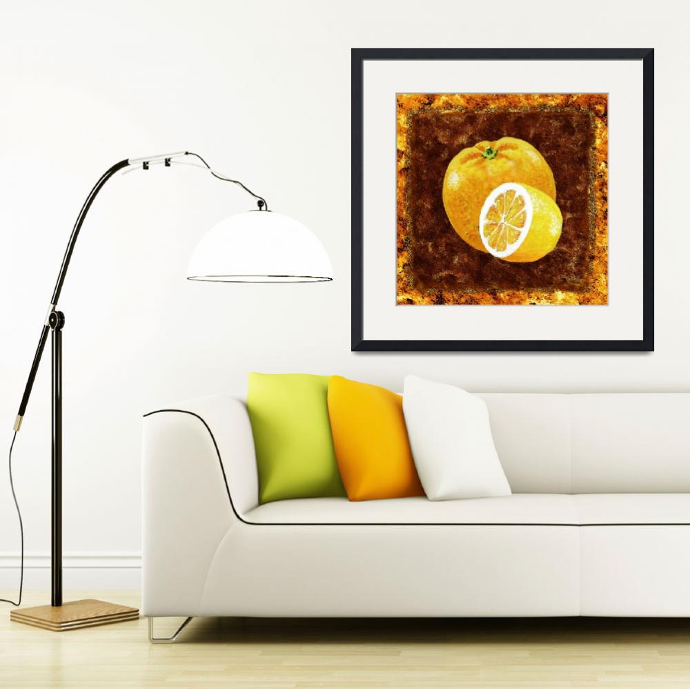 """Kitchen Decor Orange And Lemon by Irina Sztukowski&quot  (2016) by IrinaSztukowski"