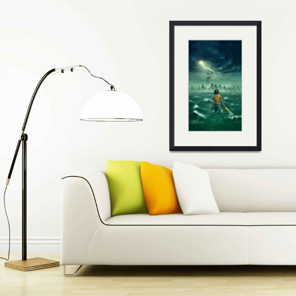 """""""The Lightning Thief - Percy Jackson Book Cover""""  by roccoart"""