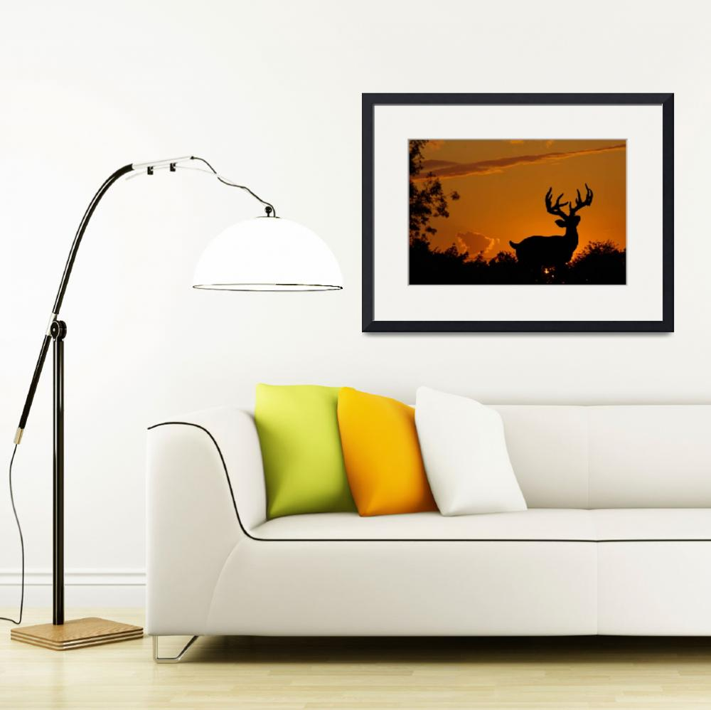 """""""Stag at Sunset""""  (2009) by loversdream"""