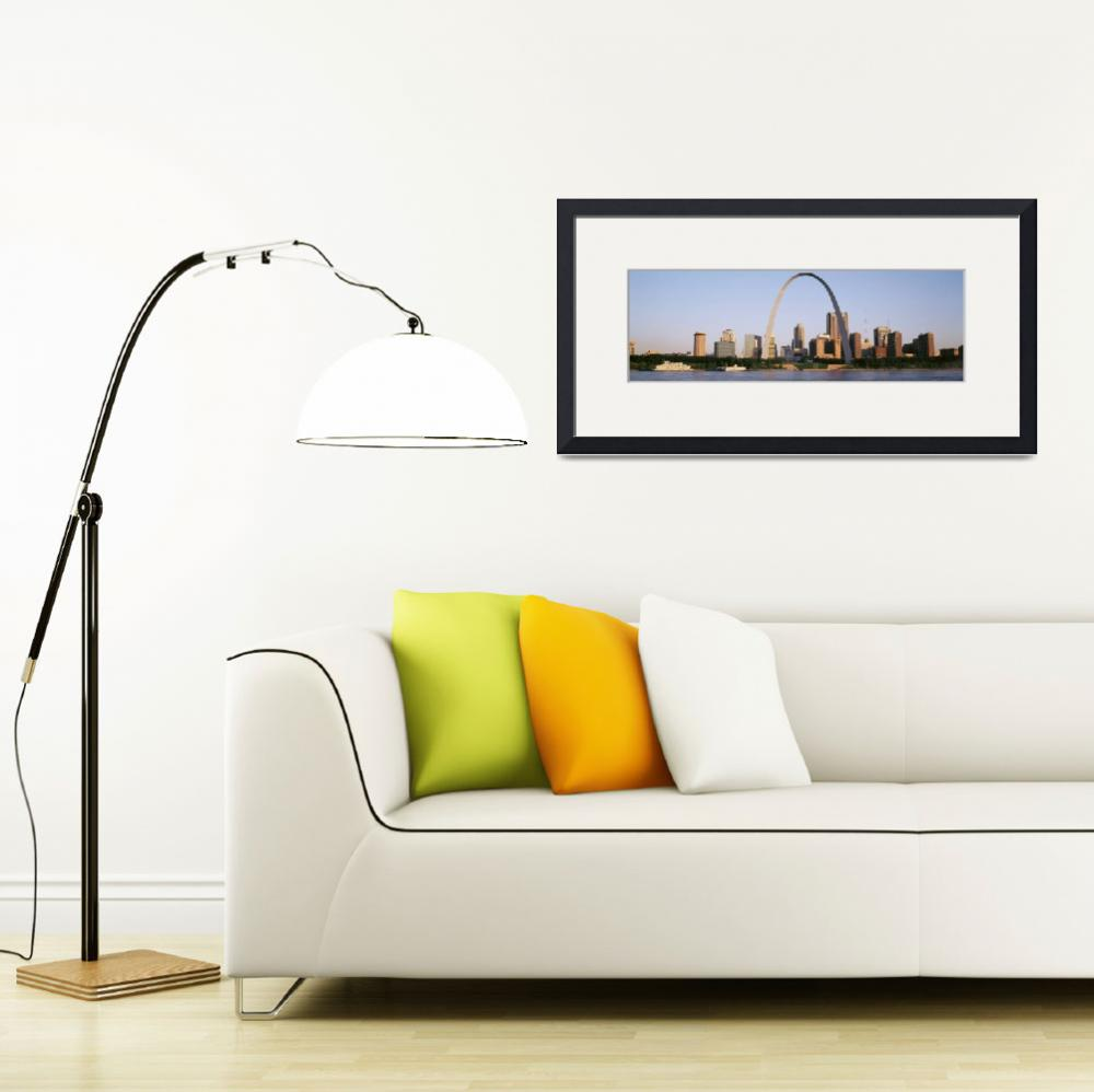 """""""St Louis Mississippi River MO&quot  by Panoramic_Images"""