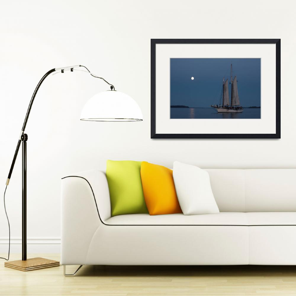 """""""Moonrise Sailing&quot  (2011) by SarahLe"""
