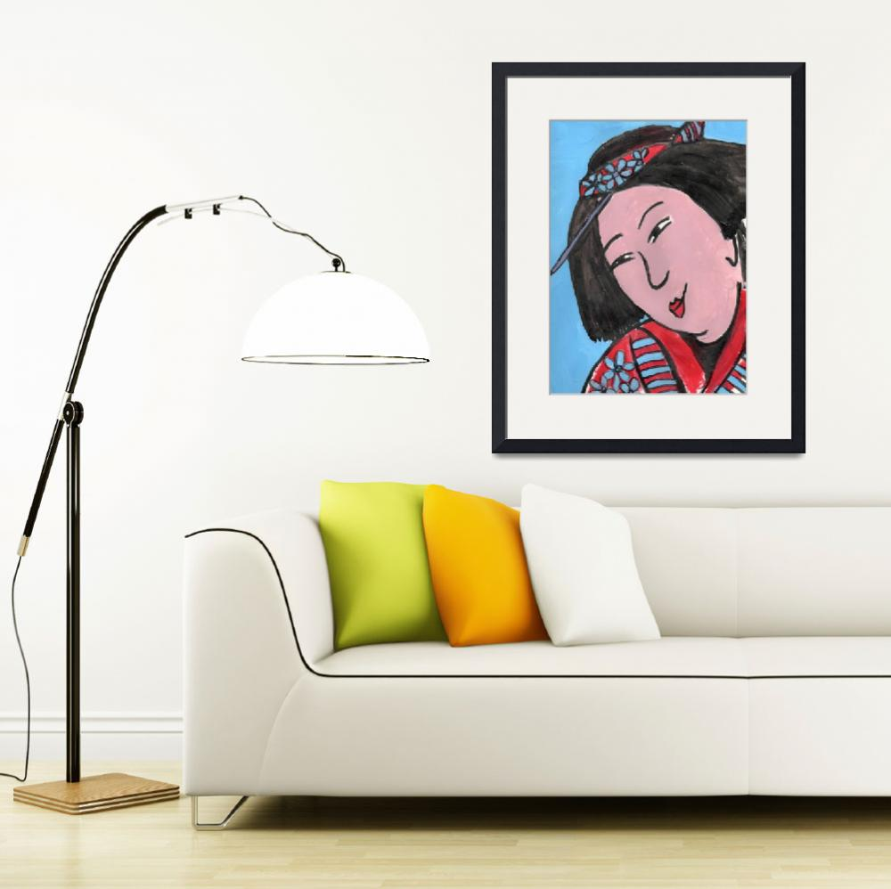 """""""Edo Mother, Art inspired by Japanese textiles depi&quot  by schulmanart"""