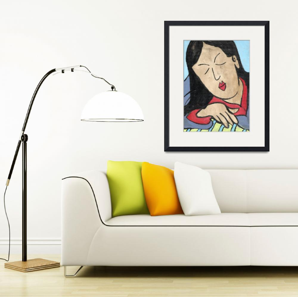 """Serene Edo Beauty, Japanese Art inspired painting""  by schulmanart"