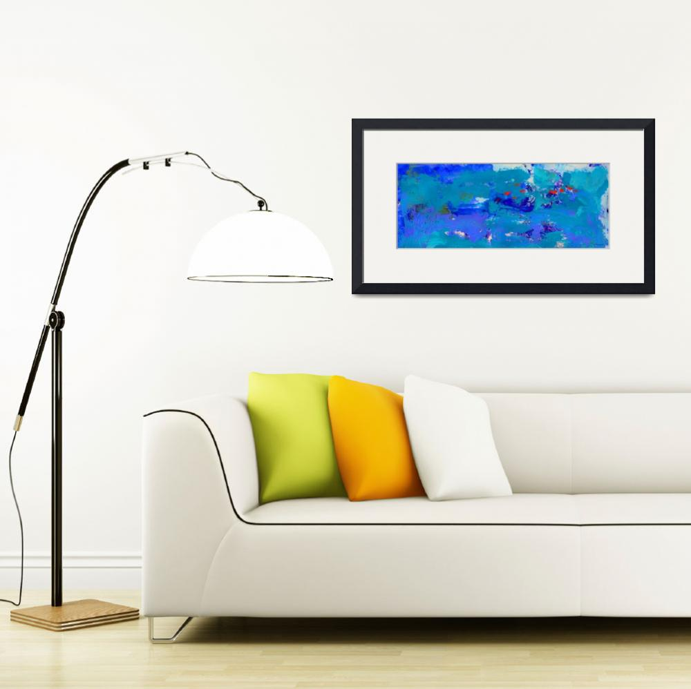 """""""Abstract Blue Seas Panorama&quot  (2017) by RDRiccoboni"""