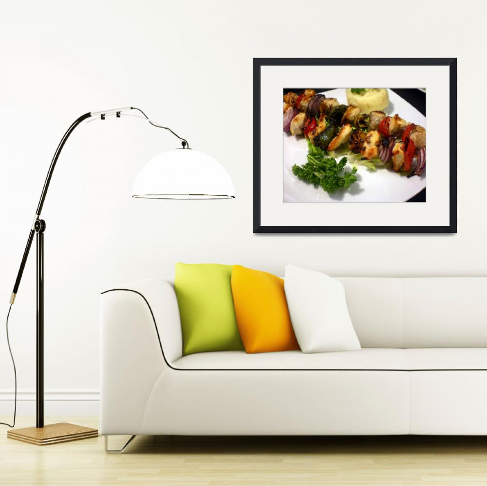 """""""Grilled chick kabob plater&quot  (2008) by ecazphoto"""