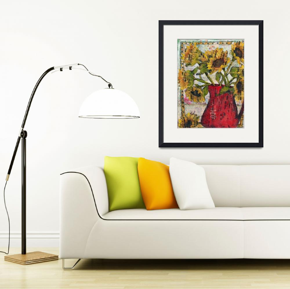 """Sunflower print 