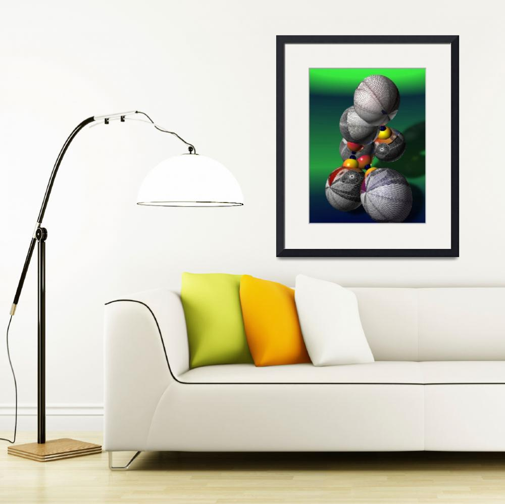 """""""Collection of Objects in 3d&quot  (2010) by ComputerArt"""