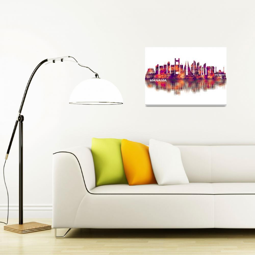 """Manama Skyline""  by Towseef"