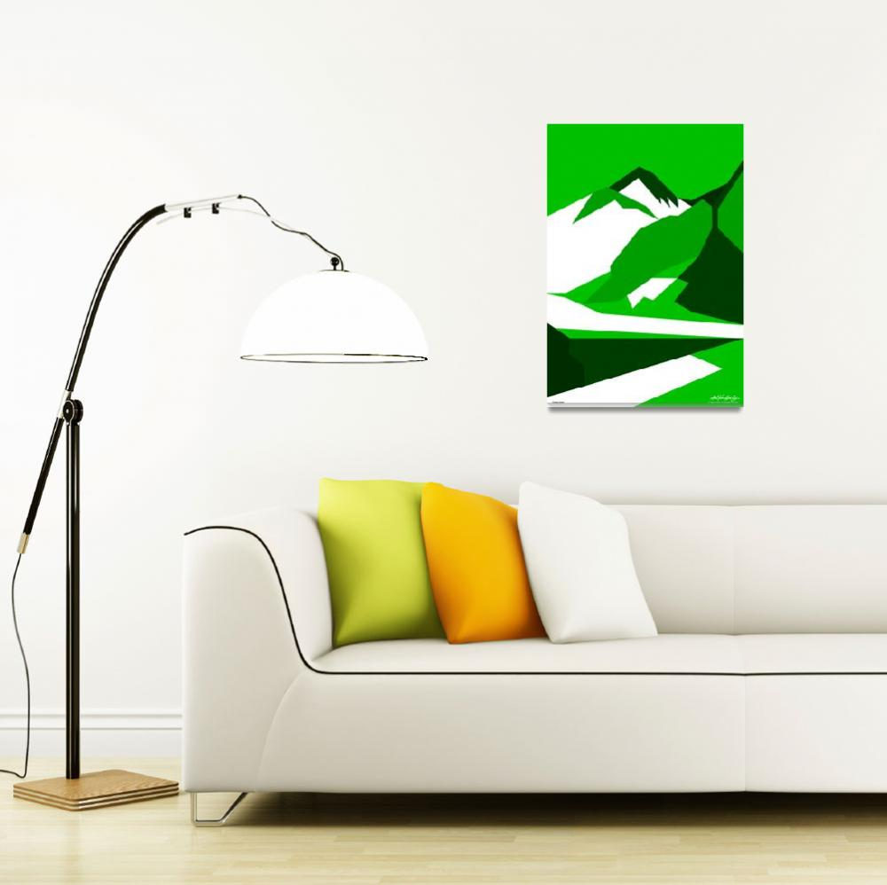 """Everest Green - Art Gallery Selection""  by Lonvig"