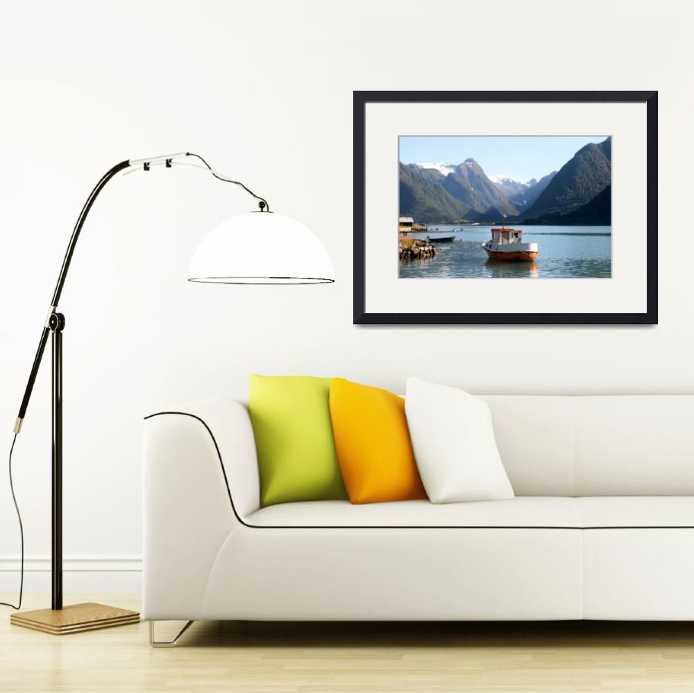 """""""Tranquility on the Fjord, Norway&quot  (2008) by Cameranut24"""