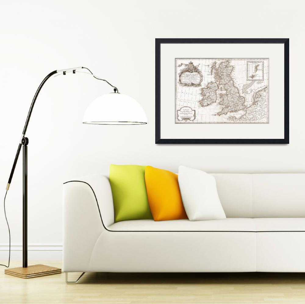 """Eighteenth Century Britain Map&quot  by TammyWinandPhotography"