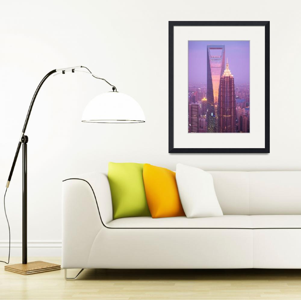 """""""Jin Mao Tower & Shanghai World Financial Center&quot  (2009) by dylane1"""
