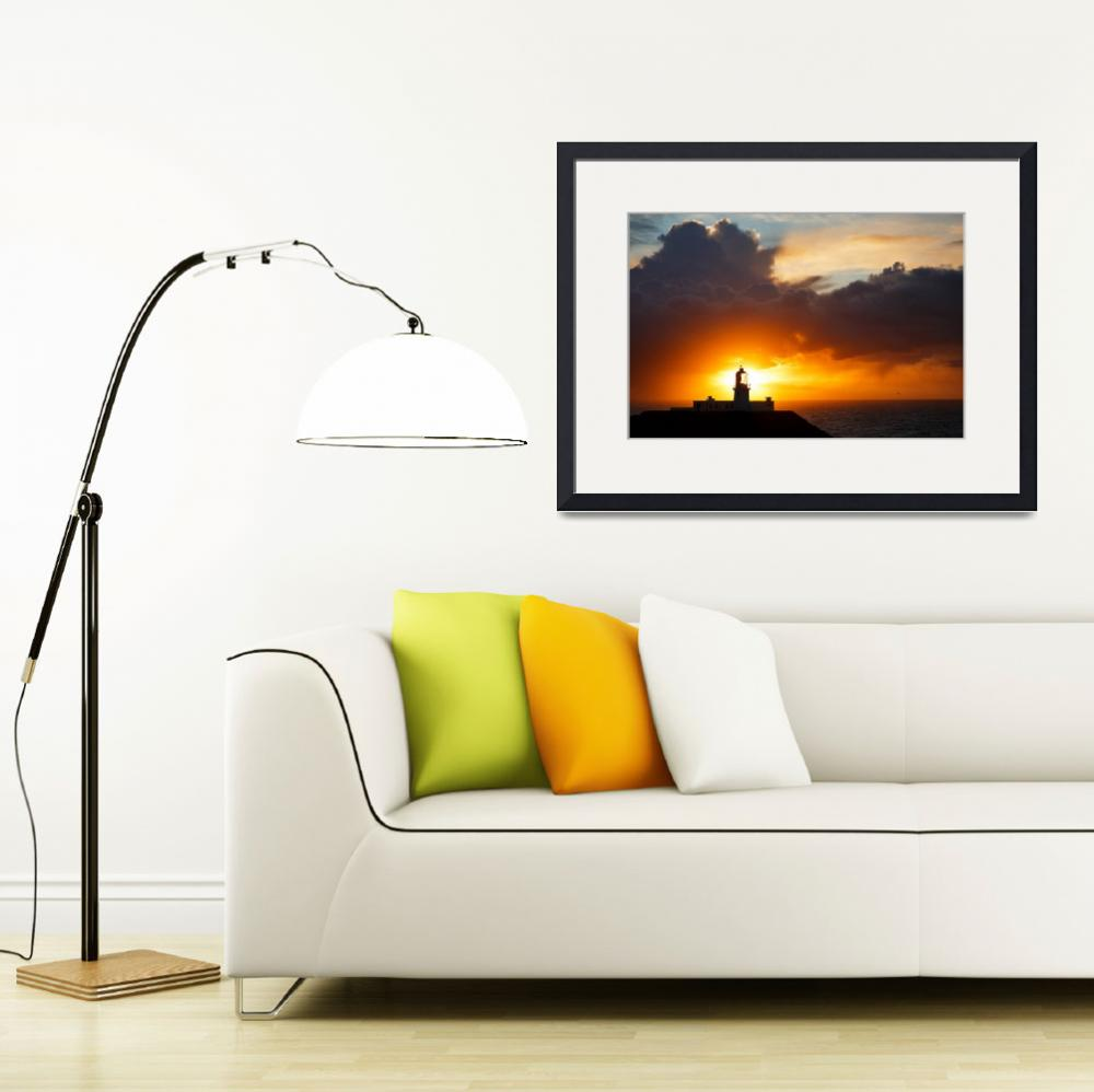 """""""Sunset at Strumble Head Lighthouse""""  (2014) by IanMiddletonphotography"""