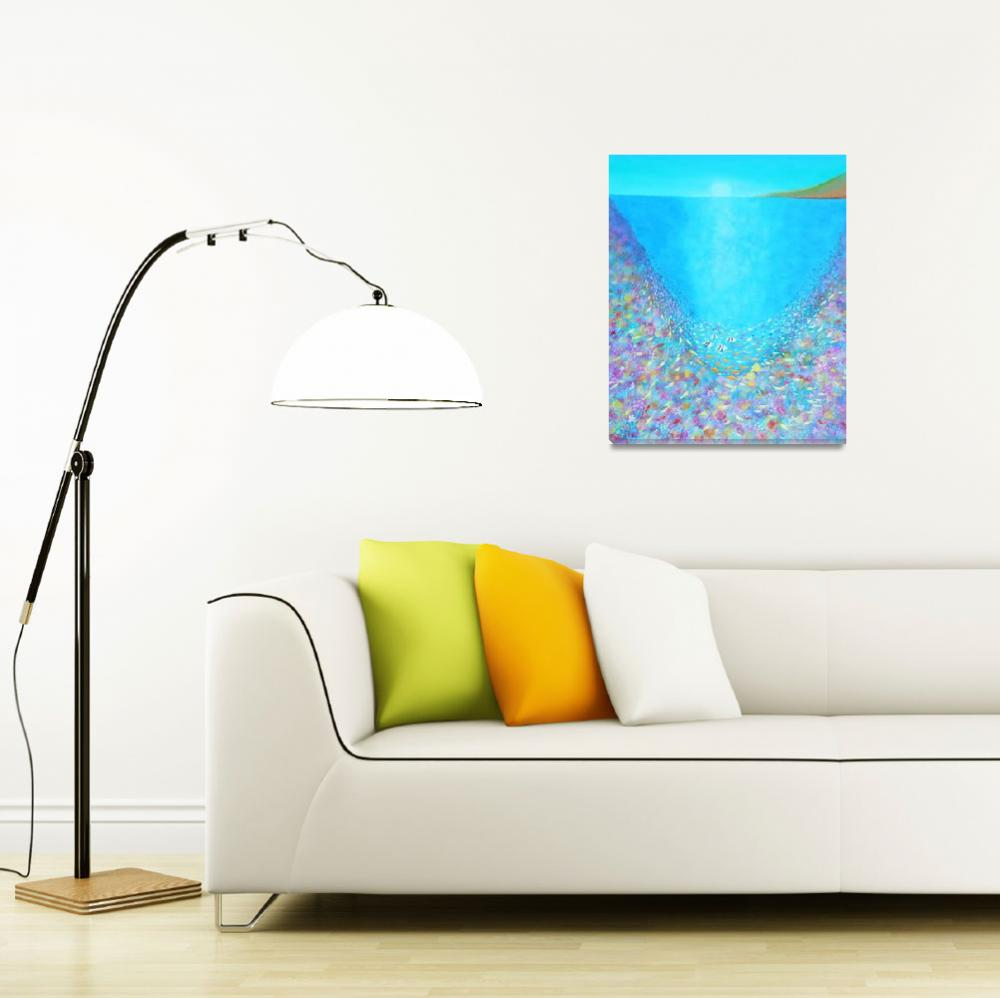"""""""Life in the Coral Reef""""  (2010) by AlinaDeutsch"""