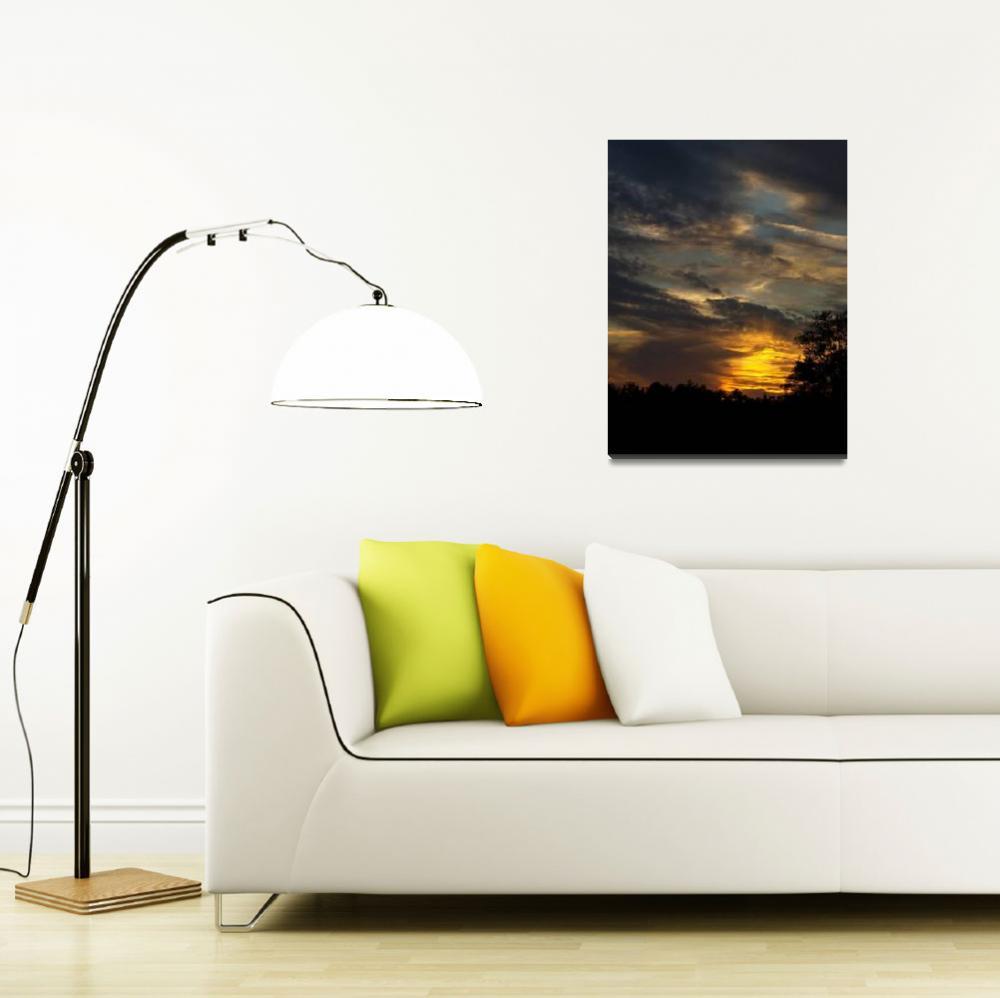 """Golden Sunset""  (2006) by inkandbrushcreations"