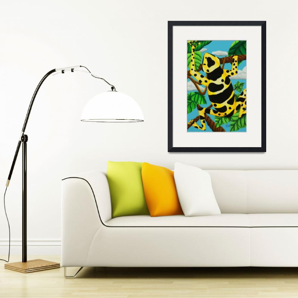 """Yellow Banded Dart Frog&quot  (1998) by SamanthasArtStudio"