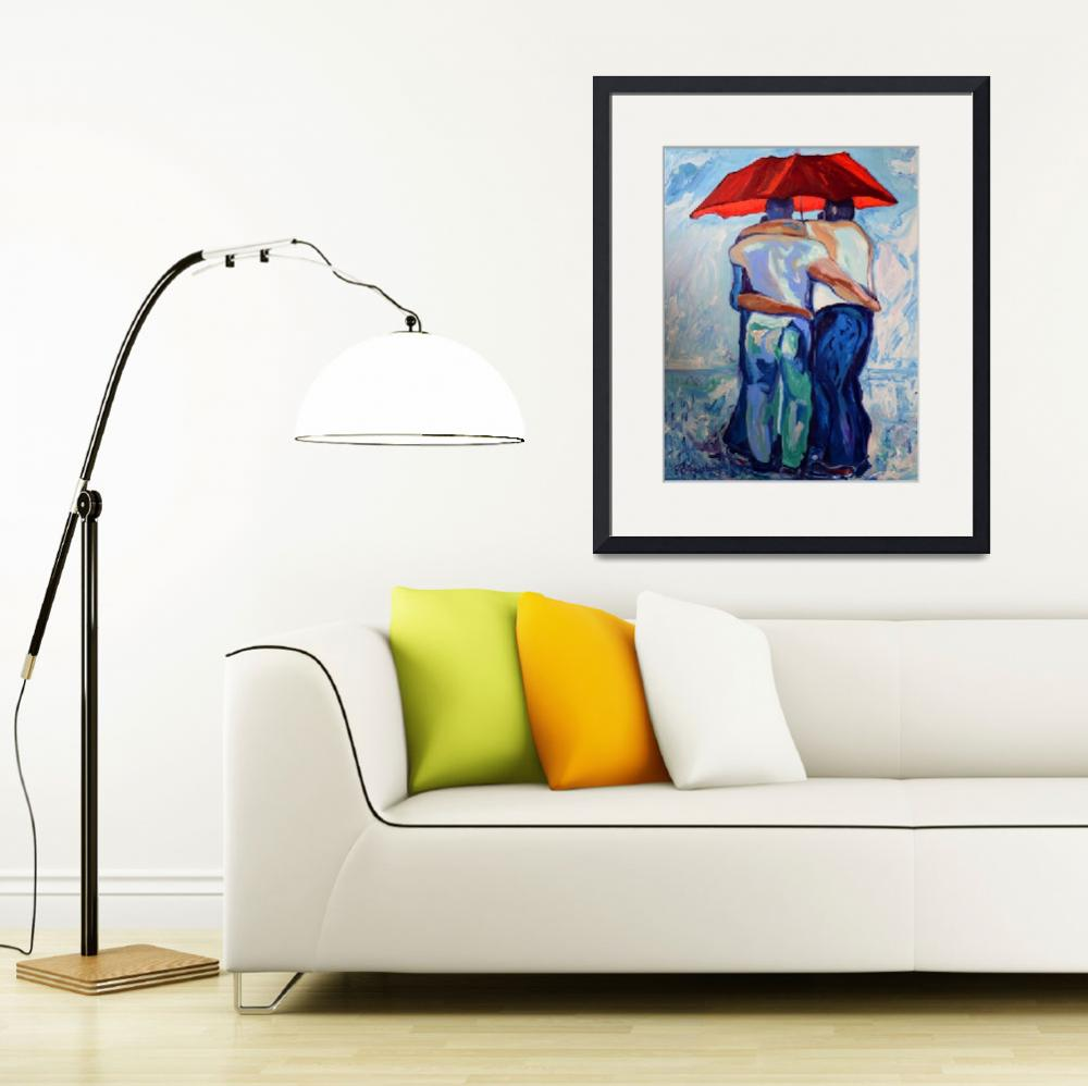 """Red Umbrella Rainbears&quot  (2007) by RDRiccoboni"