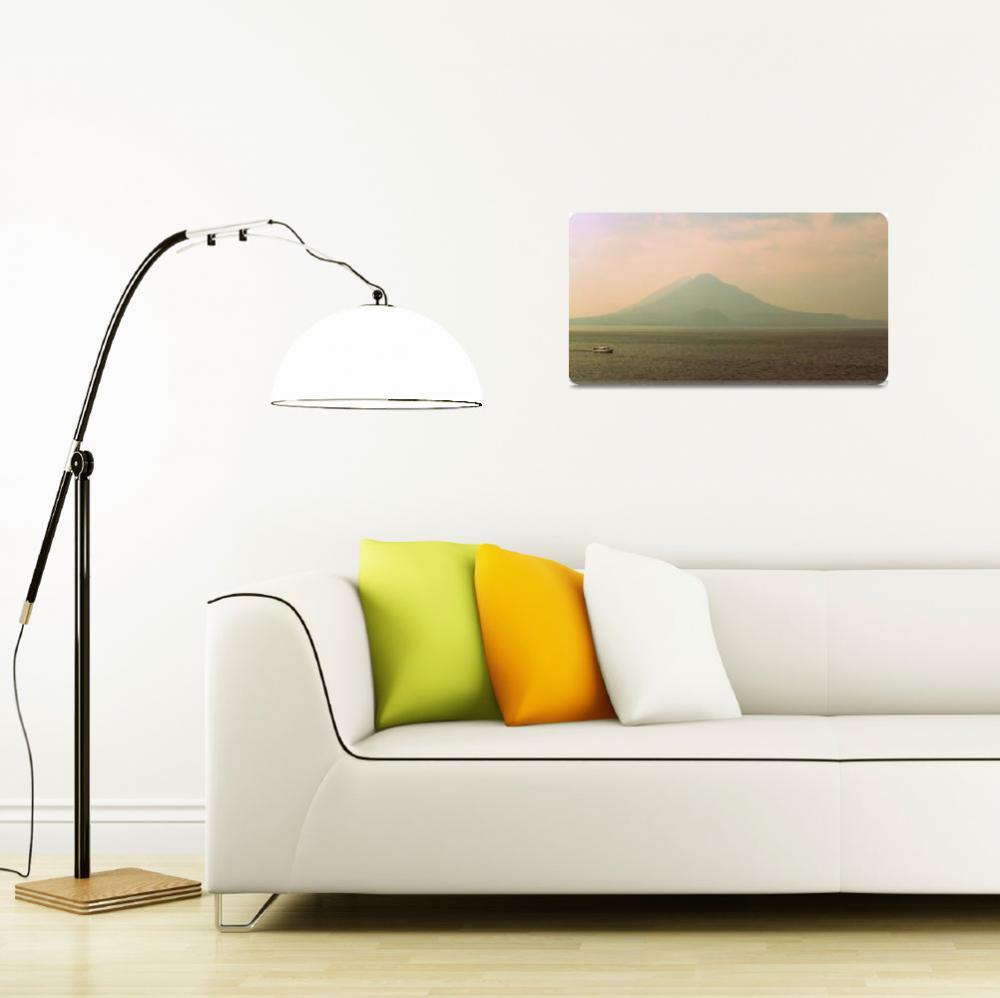 """Lake Atitlán Sunset""  (2011) by skyaroundtheworld"