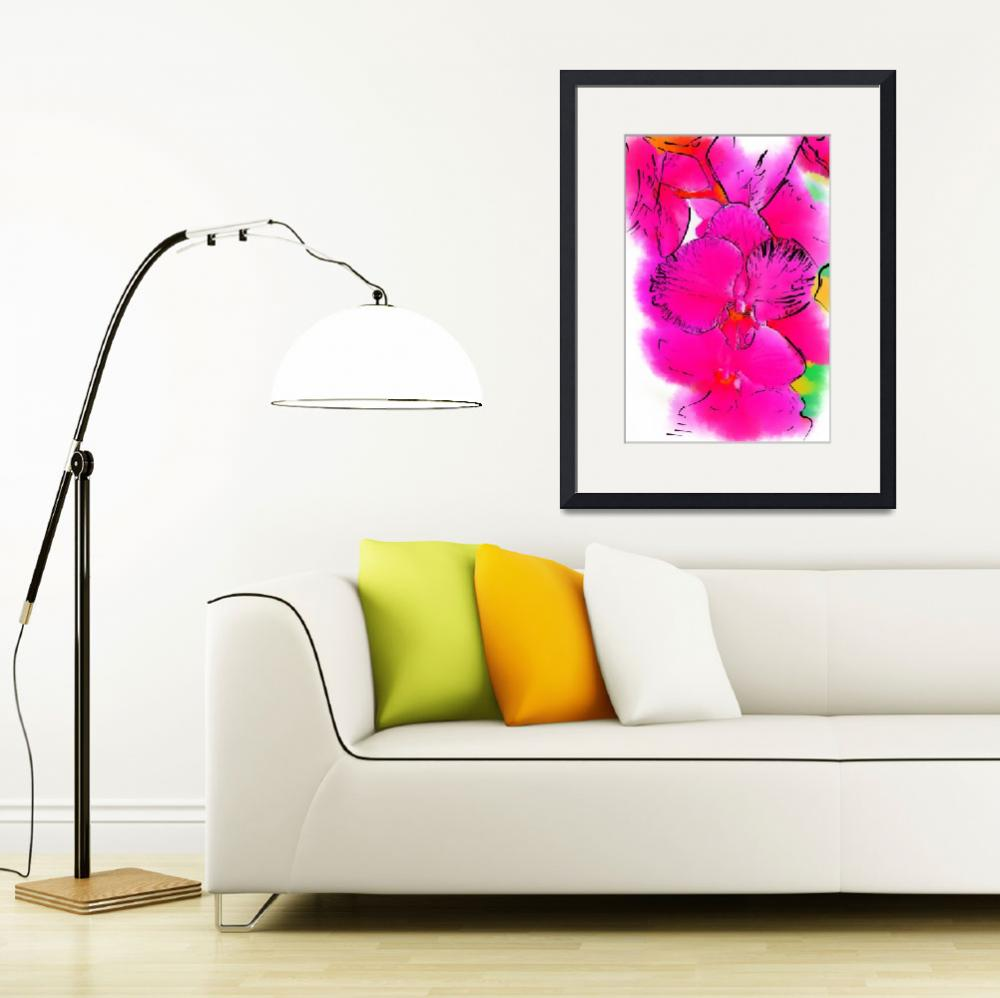 """""""Abstract Orchid 2&quot  (2013) by Kirtdtisdale"""
