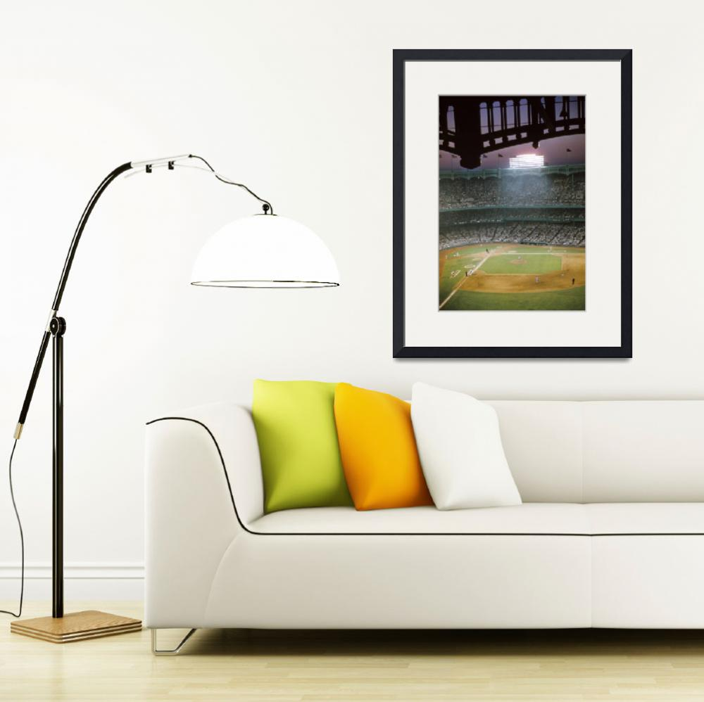 """""""Looking down on a game in old Yankee Stadium&quot  by RetroImagesArchive"""