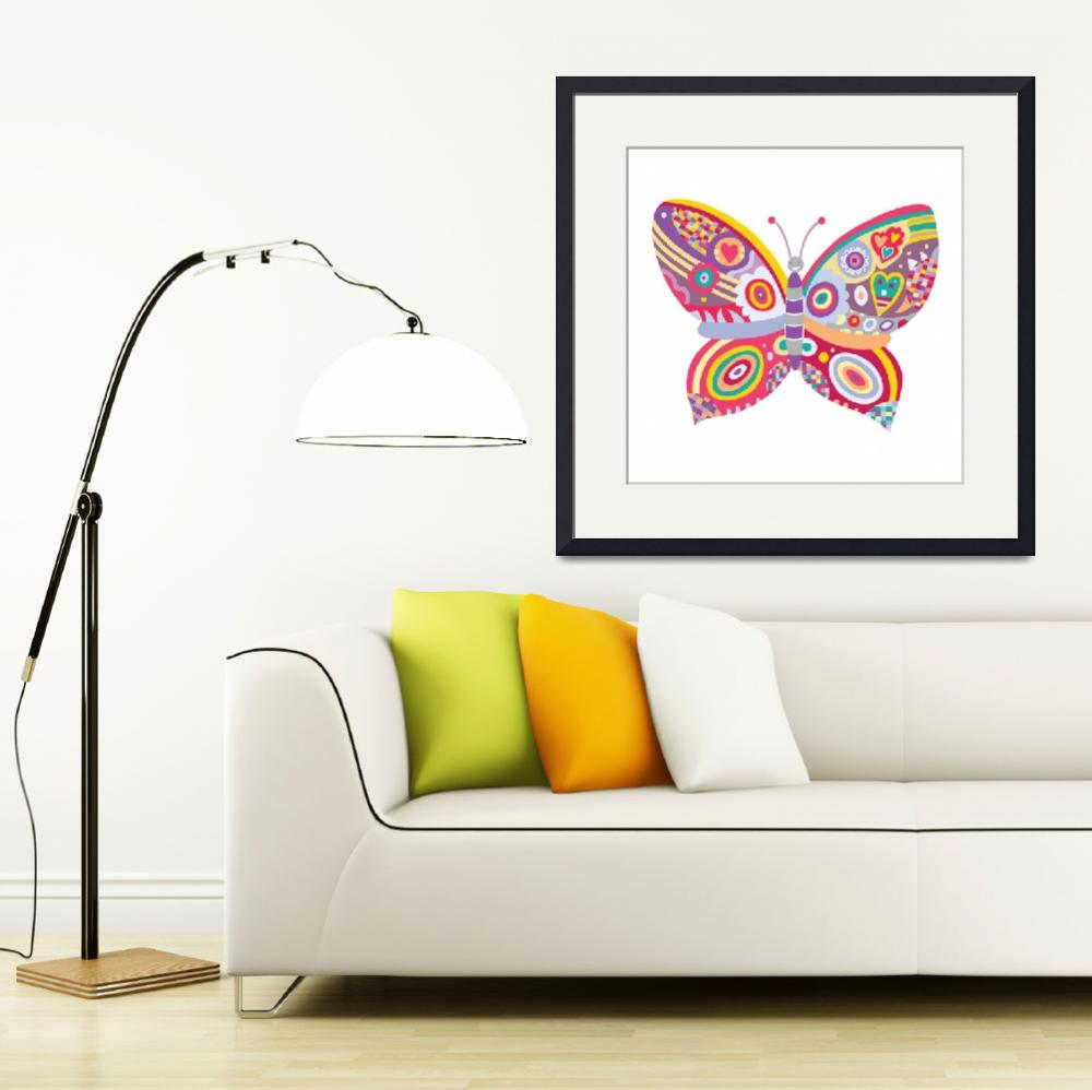 """""""Patchwork Butterfly&quot  (2010) by AdinaC"""