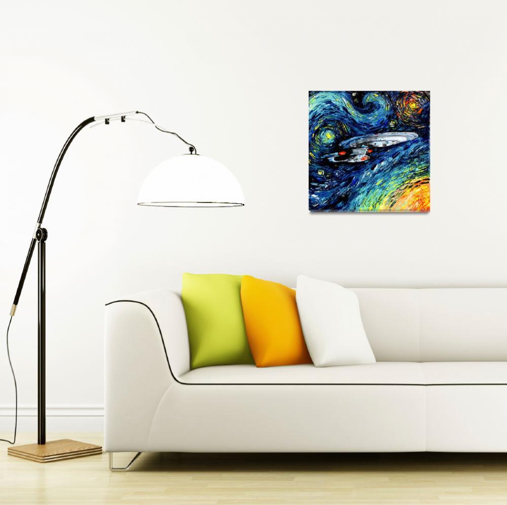 """van Gogh Never Boldly Went""  (2015) by SagittariusGallery"