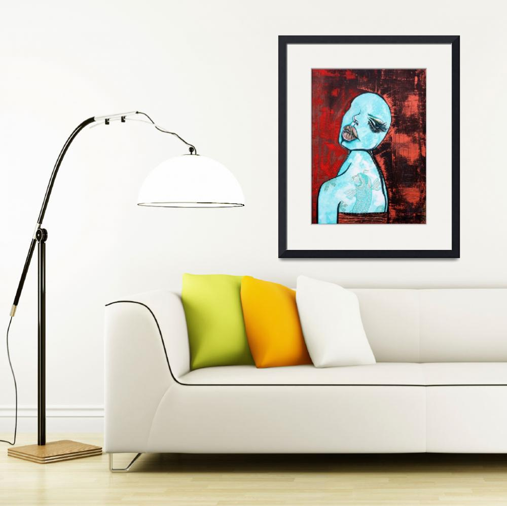 """""""Turquoise Girl&quot  (2013) by ArtPrints"""