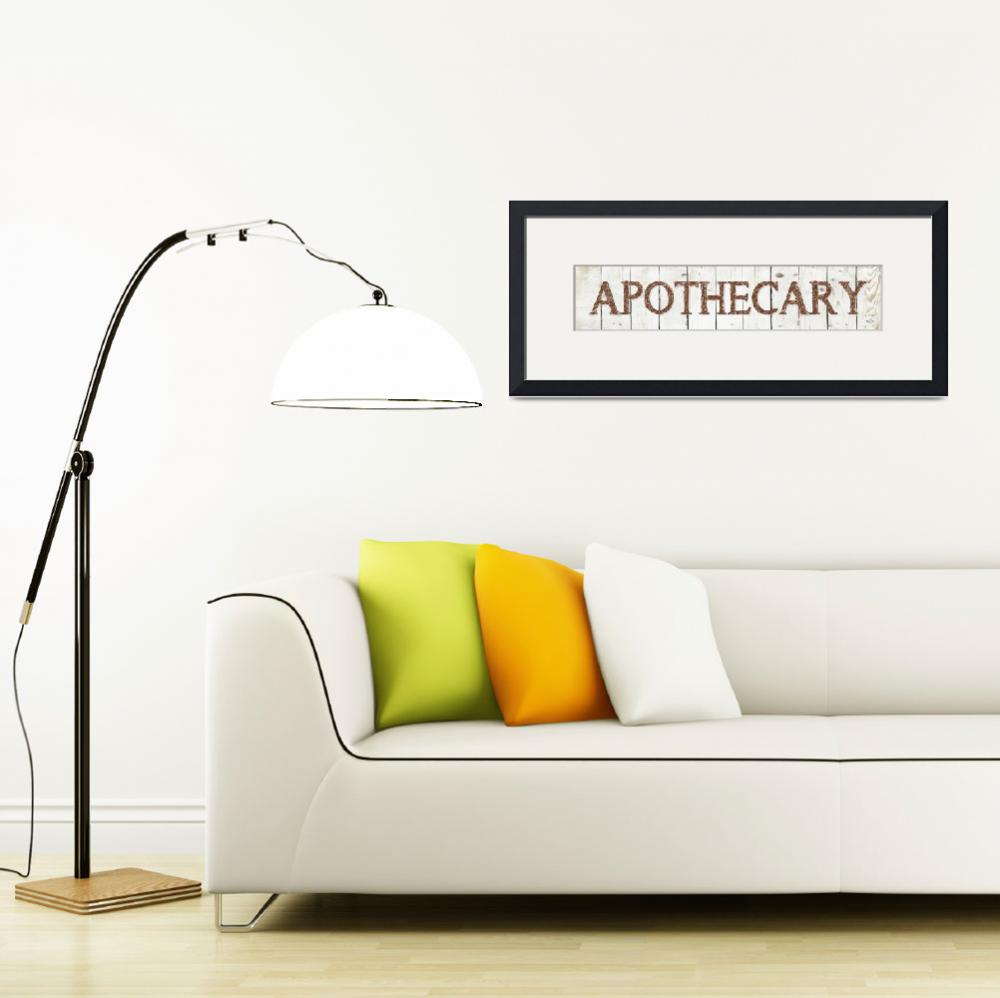 """APOTHECARY SIGN&quot  (2019) by Studio8974"