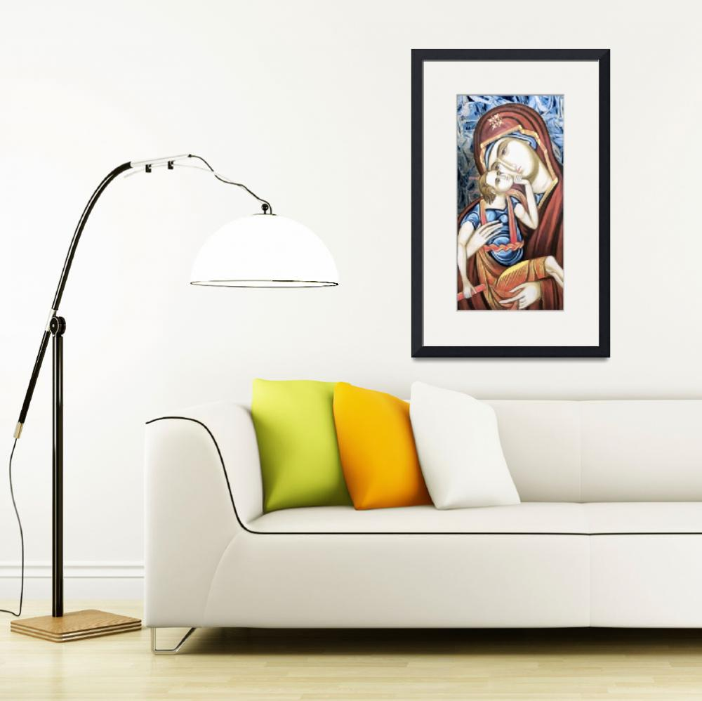"""Madonna & Child Icon&quot  (2012) by leapdaybride"